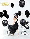 【Big Hashi 】インテリア、お店の飾りなどにも適用、簡単にパーティー飾り 風船ラテックスバルーン ブラック20個 (heise-020)