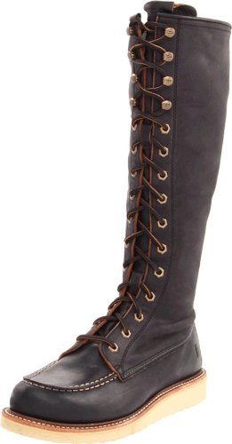 FRYE Women's Dakota Mid Lace Boot, Black, 9 M US