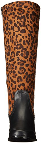 Riding Women's Mobile Boot Shoes Leopard Annie Black qwF0TT