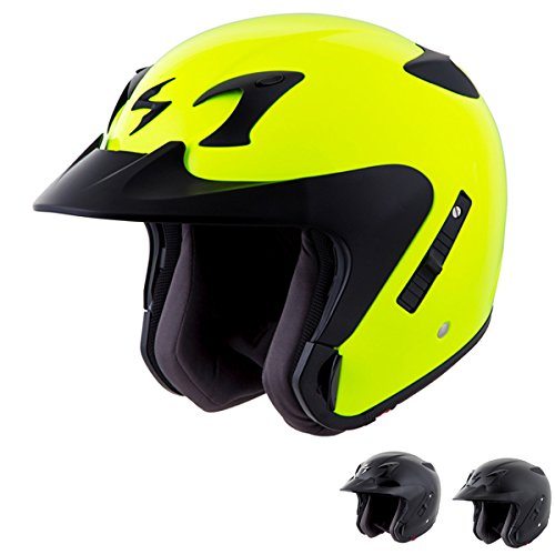 Scorpion EXO-CT220 - 3/4-Shell Open-Face Street Motorcycle Helmet - Matte Black - XX-Large