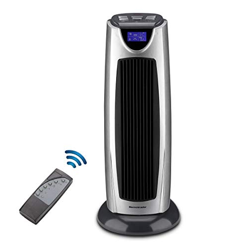 Homeleader Ceramic Space Heater 1500W, Electric Oscillating Space Heater with Remote Control, LCD Display and Timer, Space Tower Heater for Home Office