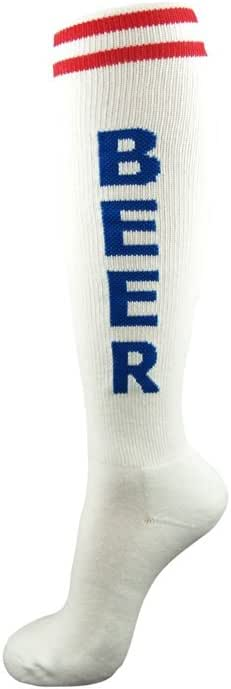 Patriotic Beer Unisex Socks Red/Blue,One Size Fits Most