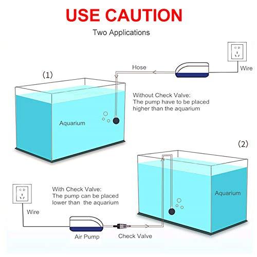 Acuario Ajustable de Alta eficiencia energ/ética Bomba de Aire para Tanque de Peces Ultra silencioso compresor de ox/ígeno para estanques de Peces WXJHA Bomba de Aire para acuarios