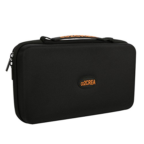 "Carrying Projector Accessories Cases - co2CREA (TM) Universal Hard Shell EVA Carrying Storage Travel Case Bag for Powerbank HDD / Electronics/Accessories Extra Large (10.2""x""6.4"