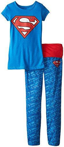 Intimo Batgirl Little Girls Batgirl Hologram Logo Yoga Pajamas