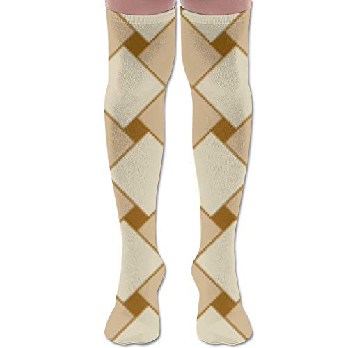 - HFJDLSK Knee Long Socks Tube Thigh-High Sock Stockings - Basketweave. Tan Wallpaper (1695) Print for Girls & Womens