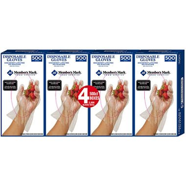 Member's Mark Plastic Disposable Gloves (2,000 ct.) x2 AS by American Standart