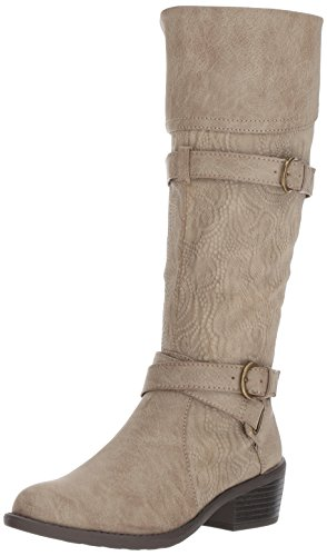 Kelsa Harness embossed Easy Boot taupe Street Women's qUPAE