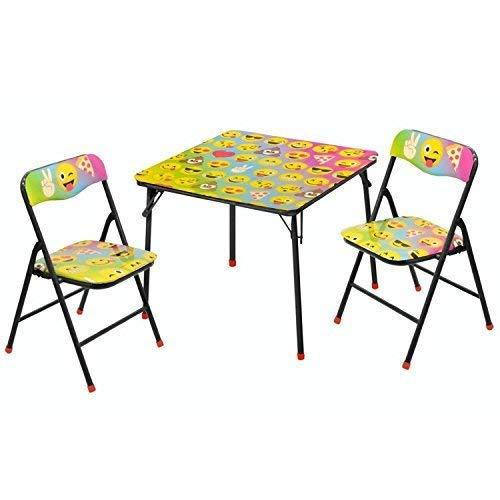 Idea Nuova WK656401 Emoji 3 Piece Table and Chair Set (Dinning Ideas Table)