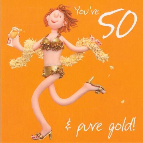 Holy Mackerel 50th Birthday Card