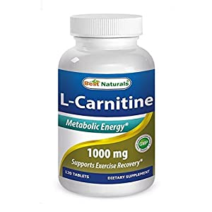 Best Naturals L Carnitine Double Potency Tablets, 1000 mg, 120 Count