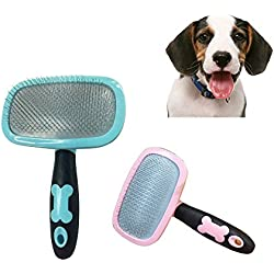 Glumes Stainless Steel Comb Pet Grooming Brush Pet Comb Dog Hair Removal Tool Cleaning Brush Pet Massage Combs Grooming Tool Dematting Dog Brush