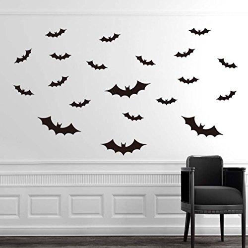 Lisingtool Halloween Decoration DIY PVC Bat Wall Sticker Decal