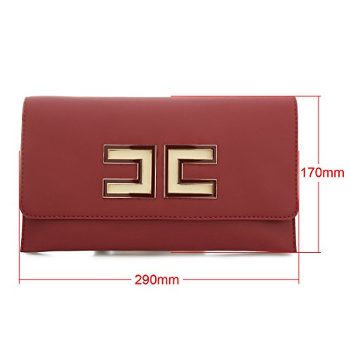 Party Fashion Wedding Women Prom Wallets Evening Leather Bag Bag Green Shoulder Handbag Purse UNYU Clutch FwPRYqUq
