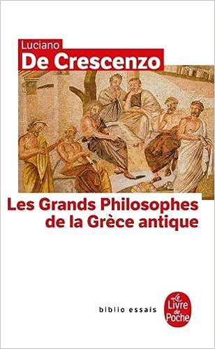 Les Grands Philosophes De La Grece Antique Le Livre De
