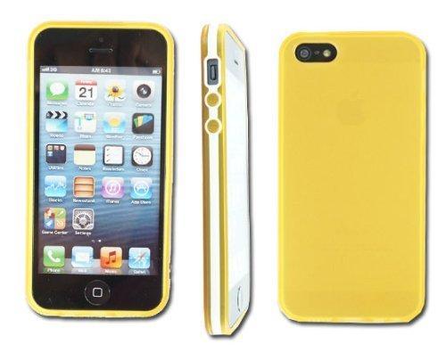 Neue Schlankes Weich Orange Gel Rückseite Handy Schutzhülle für Apple I Phone 55G