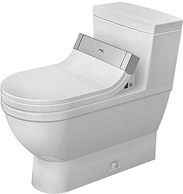 Duravit 2120510001 One Piece Toilet Stack 3, Siphon Jet, Het/Gb for Sensowash C, White