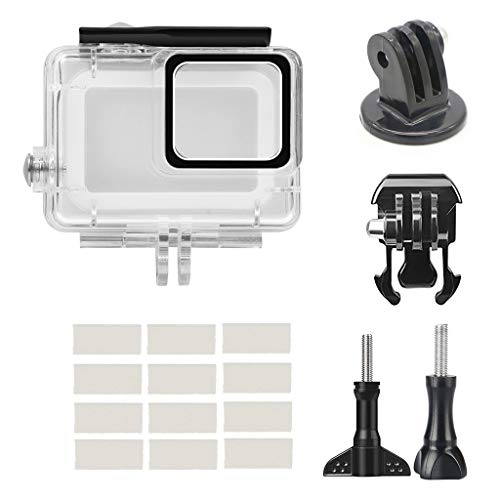 certainPL Housing Case for GoPro Hero 7 White/Silver Waterproof Case, Protective 45m Diving Accessories Kit for GoPro Hero7, Set of 17