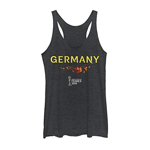 (Fifth Sun Officially Licensed FIFA Deutschland Junior's Racerback Tank, Black Heather, x-Small )