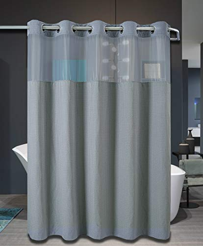 Compare Price: Hookless Shower Curtain Long