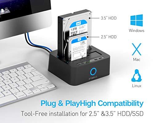 ineo USB3 1 Gen1 to SATA Dual-Bay 2 5