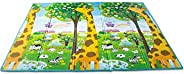 Tapete Girafa Abc Dupla Face Portátil, Ibimboo, Multicolorido, Grande