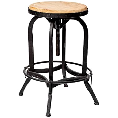 Fir Wood Adjustable Barstool