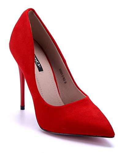 Schuhtempel24 Damen Schuhe Klassische Pumps Stiletto 12 cm High Heels Rot