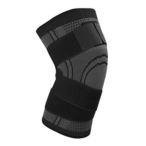 Pads Knee Junior Hockey Goalie (NszzJixo9 SKDK 3D Weaving Knee Brace Pad Support Protect Compression Breathable Running Support MMA Pad Function Indoor Fitness, Cycling Outdoor, Running Sports (Black, M))