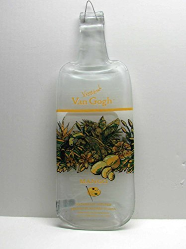vincent-van-gogh-mango-flavored-vodka-bottle-slumped-flat-for-cutting-board-cheese-tray-or-trivet