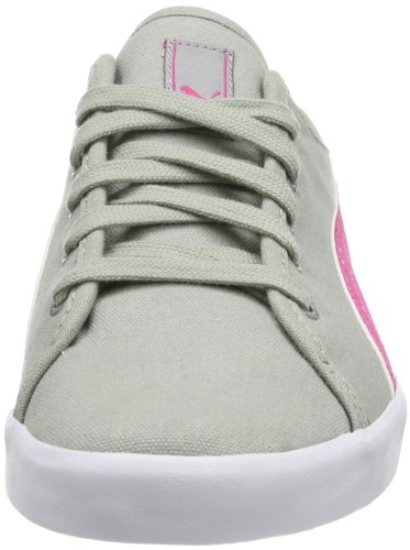 Puma Elsu Bluchertoe Canvas Wns 356633 Damen Sneaker Grau (limestone gray-beetroot purple 02)