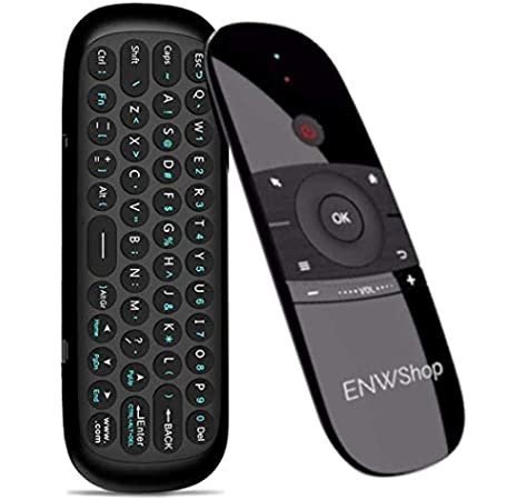 Black Wireless Mini Ultra Slim Keyboard and Mouse For Easy Smart TV Contol for Hisense H55N5300 55 Smart TV