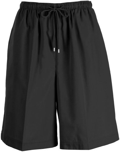 Coral Bay Womens Twill Drawstring Shorts Medium Black