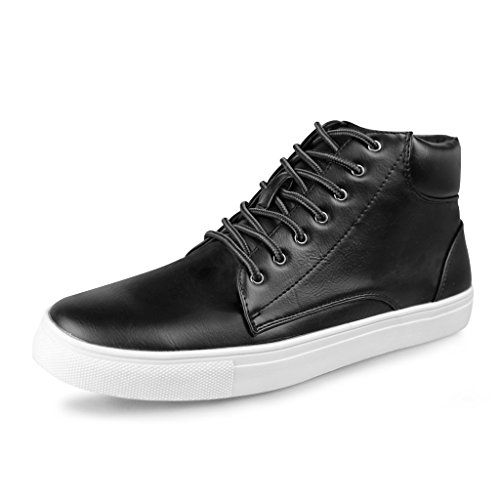 Hawkwell Men's High-top Modern Fashion Sneaker,Black PU,11 M - Cheap Fashion For Men