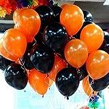 NEO 10'' Halloween Black and Orange Helium Balloons for Party Decoration 100pcs