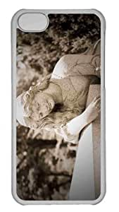 Customized iphone 5C PC Transparent Case - Woman Statue Cemetery Personalized Cover by icecream design