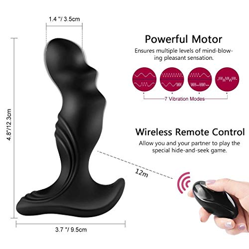 Electric Massager Massaging Toy Man Waterproof with Messager Stimulor Multiple Speed and Patterns,Ships from US,