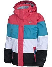 girls Trespass Girls Tesha Waterproof Padded Striped Ski Jacket