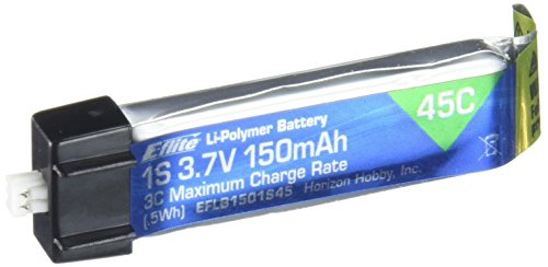 - E-flite 150mAh 1S 3.7V 45C LiPo Battery, EFLB1501S45