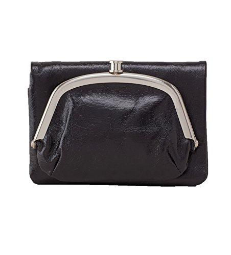 Hobo Women's Nola Leather Compact Wallet (Black)