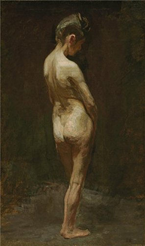 The Perfect Effect Canvas Of Oil Painting 'Thomas Eakins,Female Nude(Study),ca.1881' ,size: 18x30 Inch / 46x77 Cm ,this Imitations Art DecorativeCanvas Prints Is Fit For Laundry Room Decoration And Home Artwork (Vampire Makeup Tutorial Female)