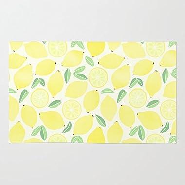 Society6 Summer Lemons Rug 2' x 3'