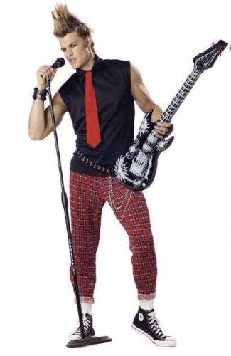 Punk Rocker Adult Costume - Large (X-Large (42-44)) ()