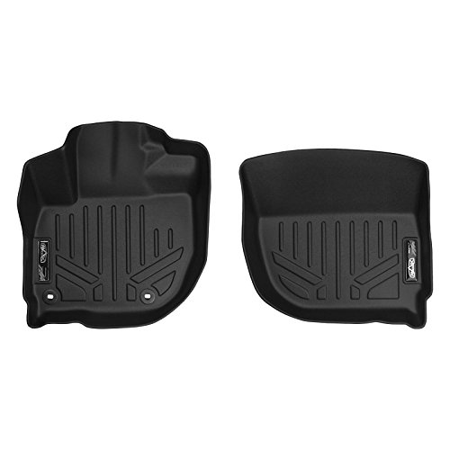 SMARTLINER Floor Mats 1st Row Liner Set Black for 2015-2019 Honda Fit / 2016-2018 Honda HR-V (Best Winter Floor Mats)