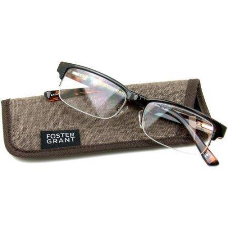 Foster Grant Bentley Tortoise Half-Rim Reading Glasses +3.00 with case