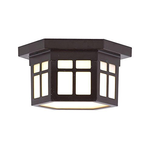 Home Decorators Collection LED Outdoor Hanging Antique Bronze Flush Mount by Home Decorators Collection