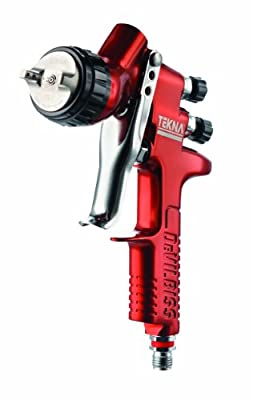 TEKNA 703661 Copper 1.3mm and 1.4mm Fluid Tip High Efficiency Spray Gun with 7E7 Air Cap