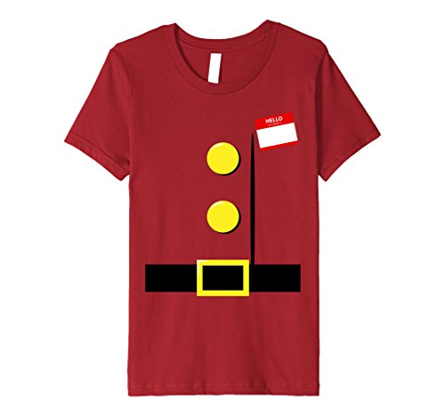 4 Group Halloween Costume Ideas (Kids Dwarf Halloween Group Costume Idea T-Shirt with Name Plaque 4 Cranberry)