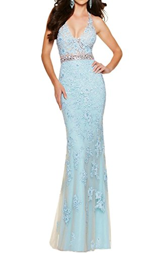Partykleider Gelb Braut Meerjungfrau Etuikleider Abendkleider Promkleider Himmel Marie La Blau Damen Hell Lang n8HHqa