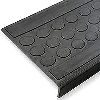 Stufenmatten aus Gummi - rutschhemmend, für Innen- und Außentreppen - verschiedene Größen und Stückzahlen